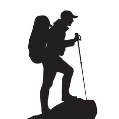 236x236 Hiker Silhouettes On The White Background Photo Silhouette Art