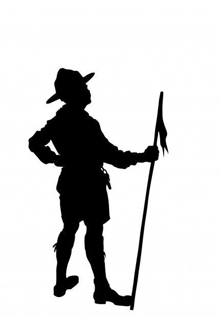 430x615 Boy Scout Silhouette Clipart Free Stock Photo