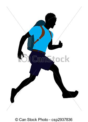 Hiker Silhouette Vector
