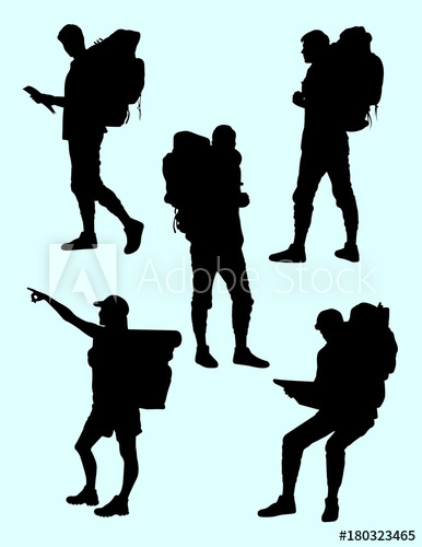 386x500 Hiker Gesture Silhouette 04. Good Use For Symbol, Logo, Web Icon