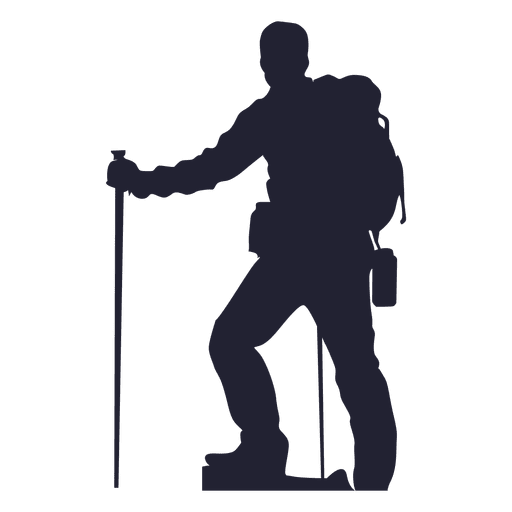 512x512 Hiking Man Silhouette