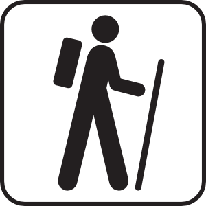 300x300 Hiking Silhouette Clipart