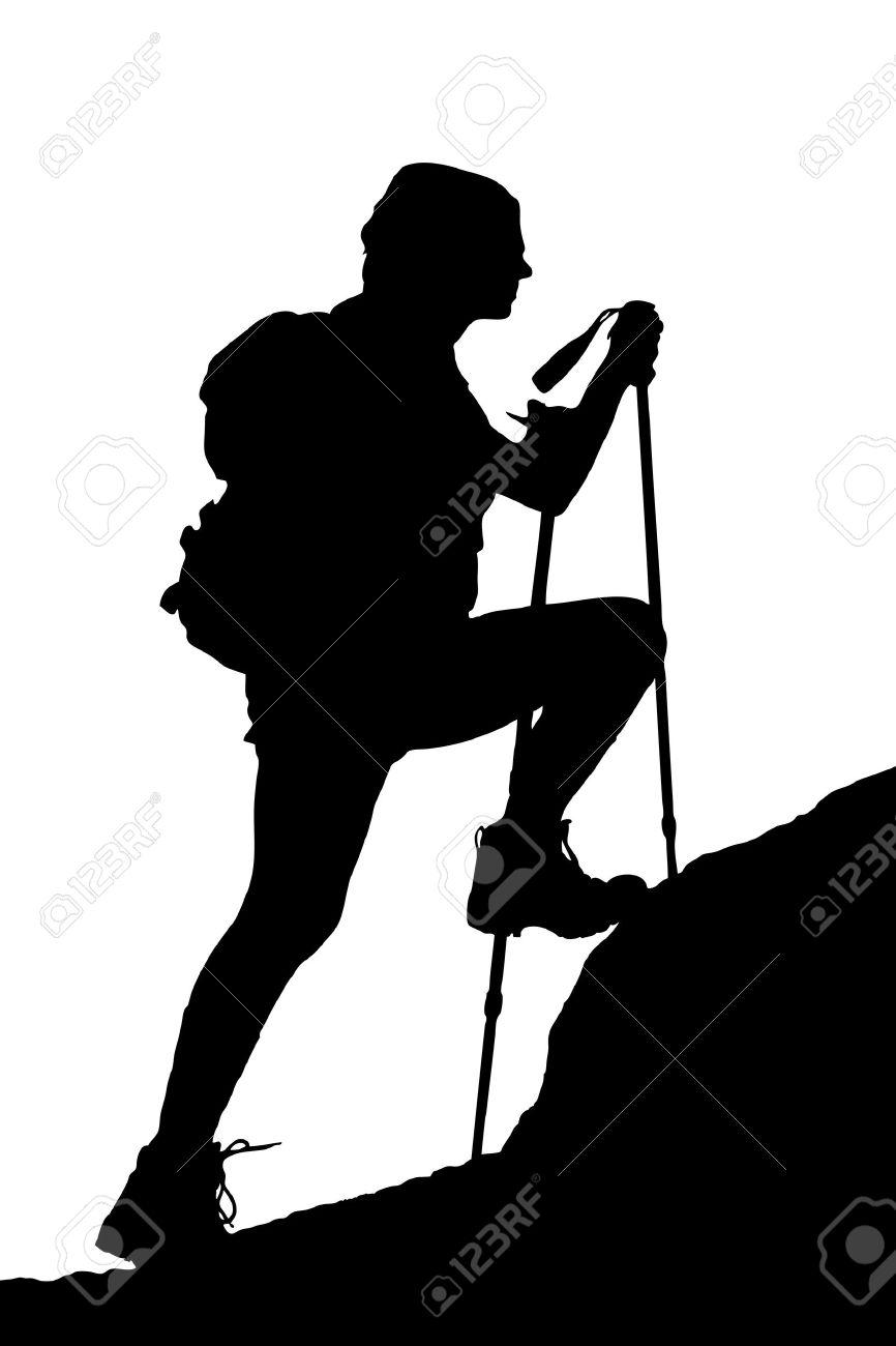 866x1300 Hiker Silhouette Clipart