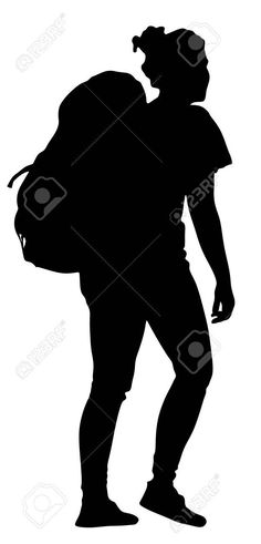 236x491 Girl Hiker Silhouette Silhouette Cameo Silhouettes
