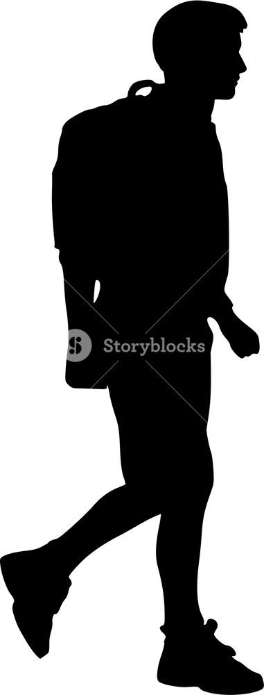 381x1000 Hiker Silhouette Hiking Royalty Free Stock Image