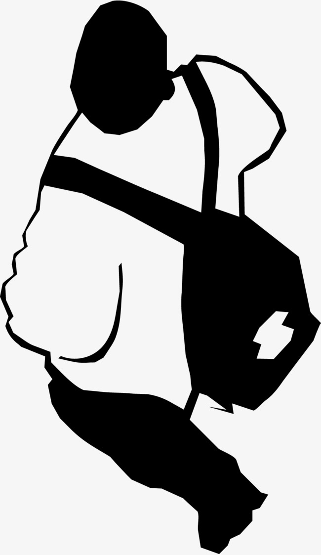 650x1123 Backpack Silhouette Walking, Character Walking, Hiking Png