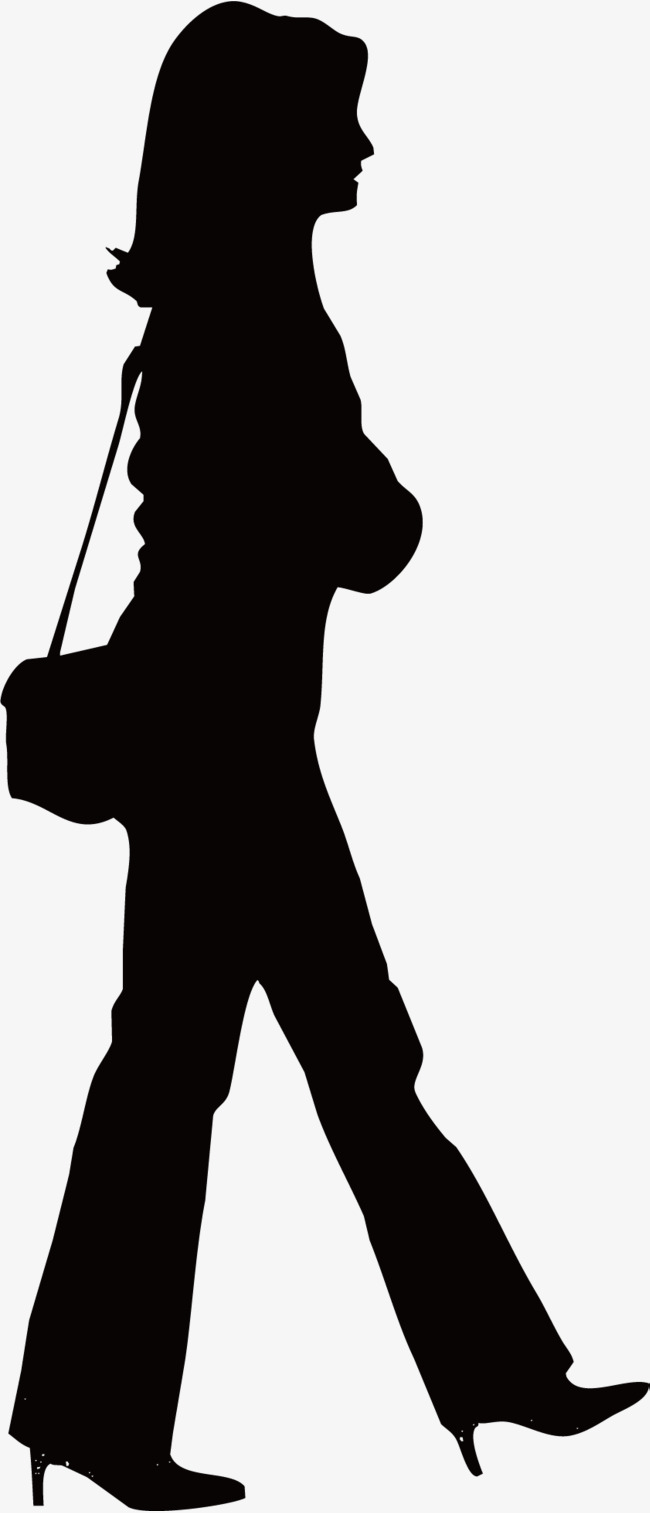 650x1513 Shopping Woman, Character Walking, Hiking Png And Vector For Free