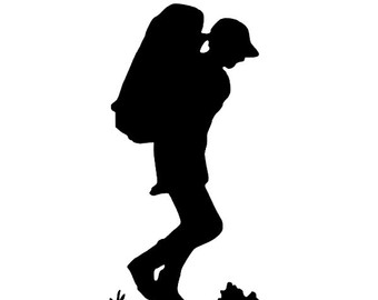 340x270 Hiking Clipart Silhouette