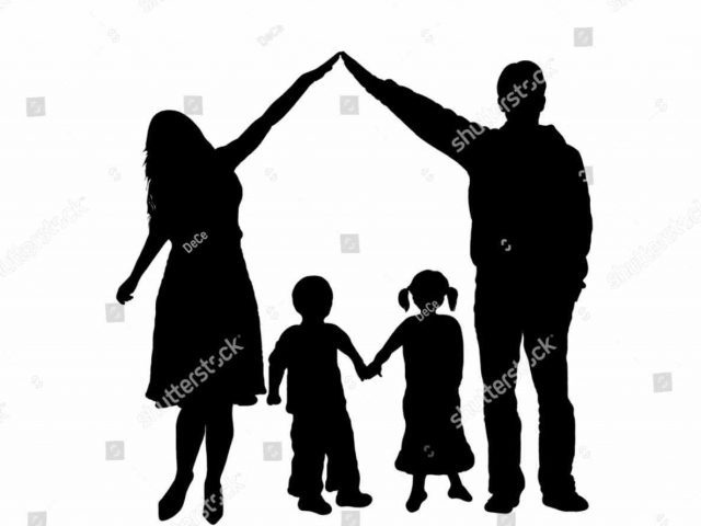 640x480 Holding Hands Happy Family Hiking Silhouette Young Holding Hands