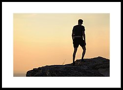 250x183 Man's Silhouette On Hill On Sunset Photograph By Evgeny Ivanov