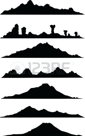 282x450 Mountain Landscape Silhouette Landscape Of Hill With Rainbow