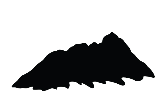 550x354 Mountain Silhouette Vector Mountain Silhouette, Vector Free