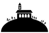 200x137 Church On Hill Silhouette Stock Vector