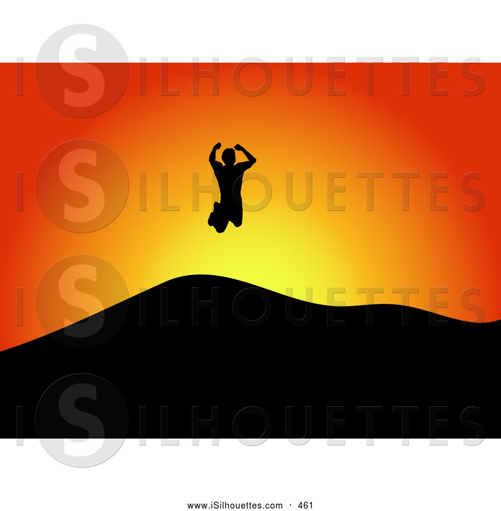 1024x1044 Silhouette Clipart Of A Happy Energetic Silhouetted Man Jumping