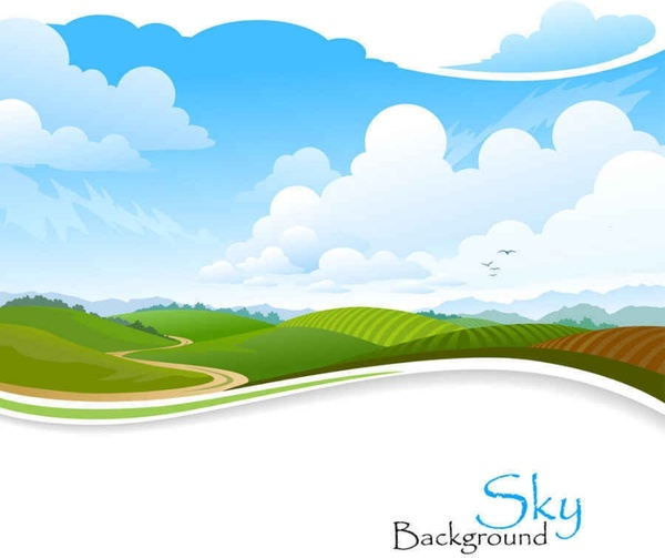 600x503 Beautiful Scenery Vector Background0004 Free Vector
