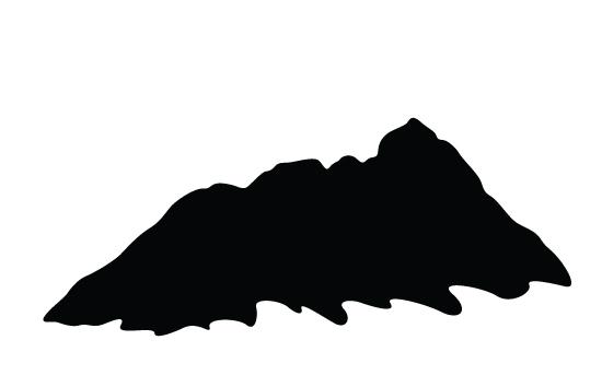 550x354 Mountain Silhouette Vector Mountain Silhouette, Vector Free