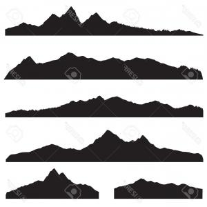 300x300 Photostock Vector Mountain Silhouettes Overlook Vector Rocky Hills