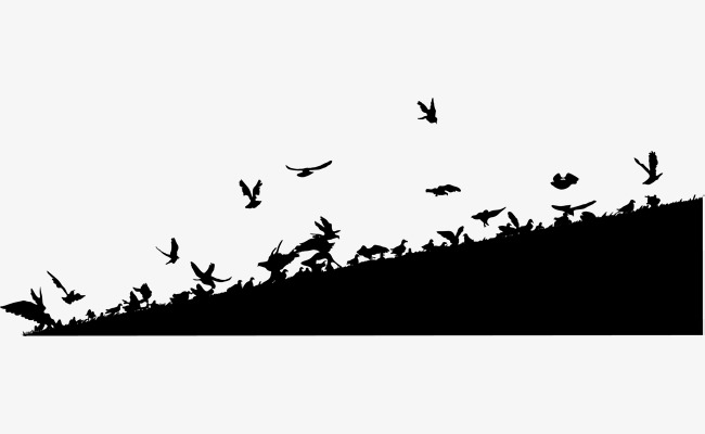 650x400 Black Hill Birds, Black, Mountains And Hills, Decorative Pattern