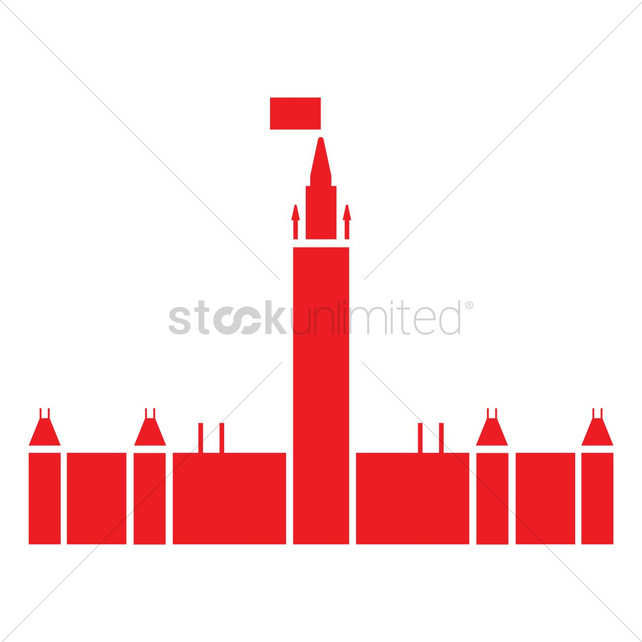 1300x1300 Canada's Parliament Hill Vector Image