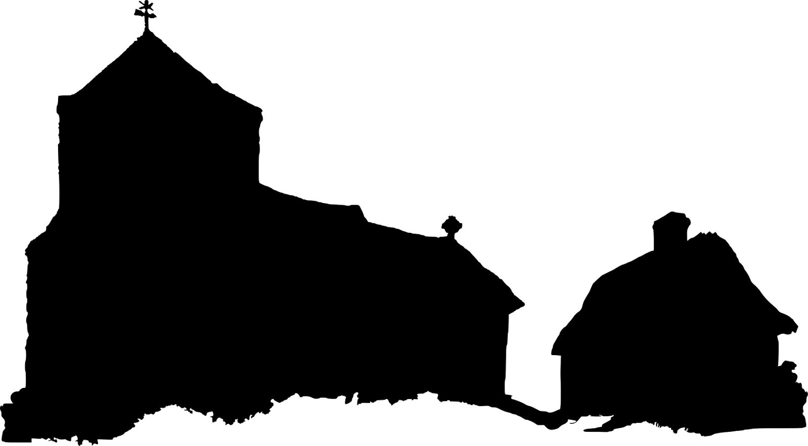 1600x883 Church Silhouette Vector