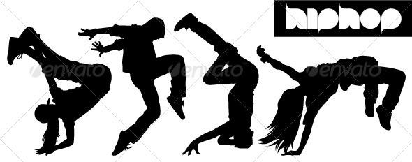 590x232 Hip Hop Dancers Silhouettes By Artag Graphicriver