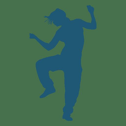 512x512 Hip Hop Dancer Silhouette