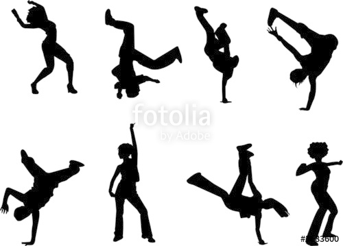 500x359 Hip Hop And Dancing Silhouettes Stock Image And Royalty Free