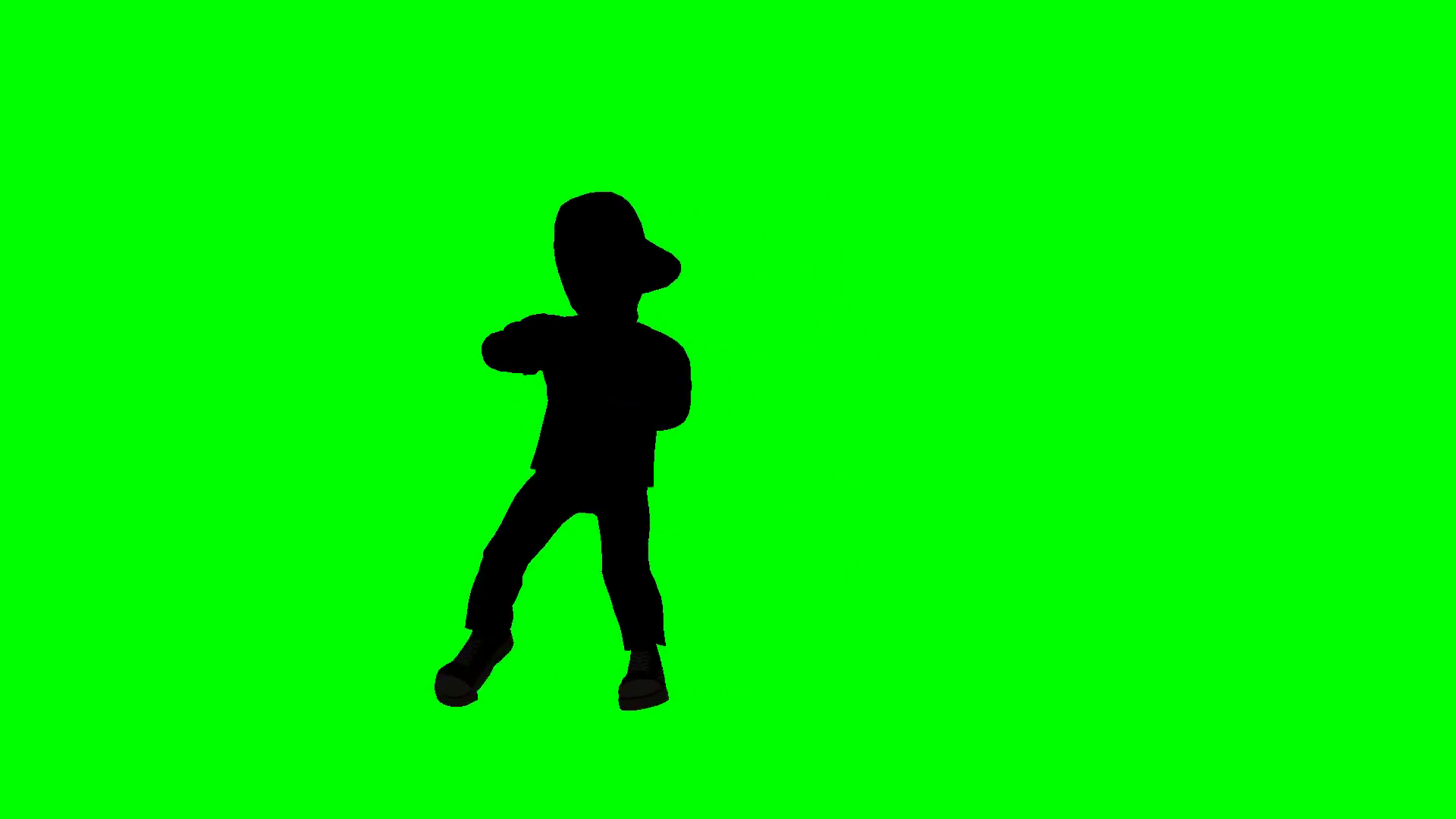 1920x1080 Hip Hop Dancer Silhouette on green screen Motion Background