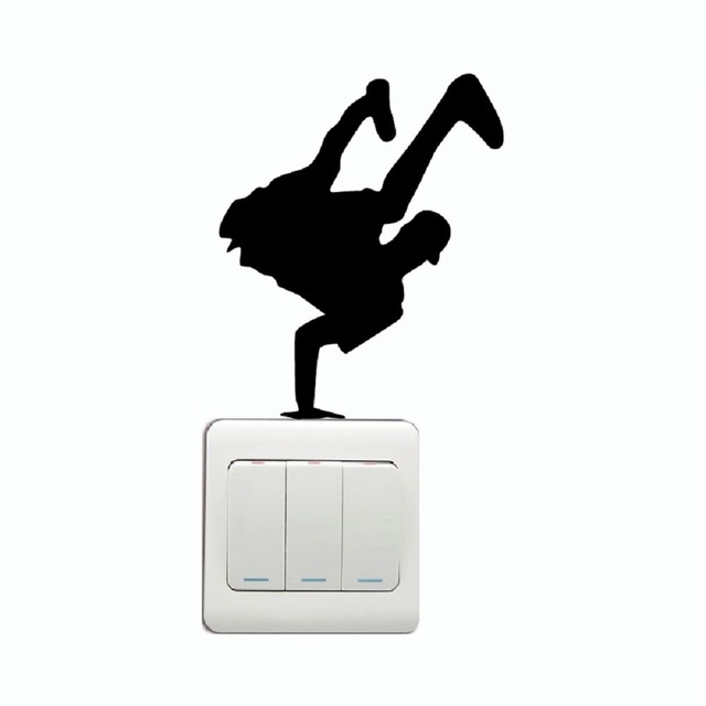 640x640 KG 222 Hip Hop Dancer One Handed Dance on Light Switch Sticker
