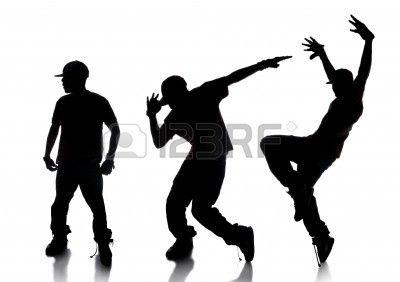 400x282 Dilhouette De La De Danseur Hip Hop Sur Un Fond Blanc