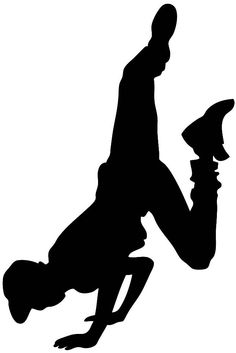 Hip Hop Dancer Silhouette Clip Art