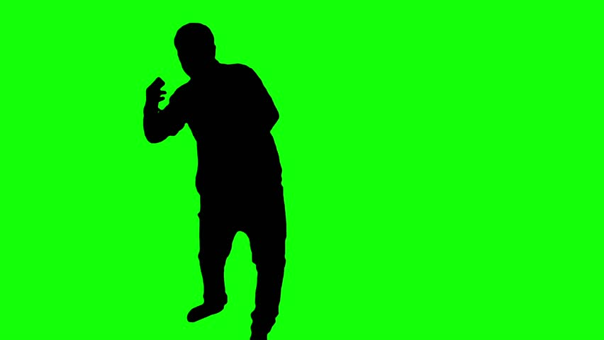 852x480 Hip Hop Dancing Silhouettes On Colorful Backgrounds Stock Footage