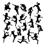 159x160 Hobbies Dancing Silhouettes, Illustration Art Vector Design Stock