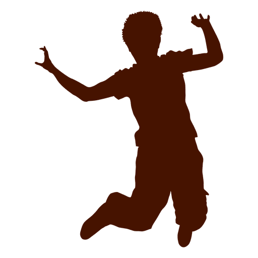 512x512 Teen Boy Hip Hop Dancing Silhouette