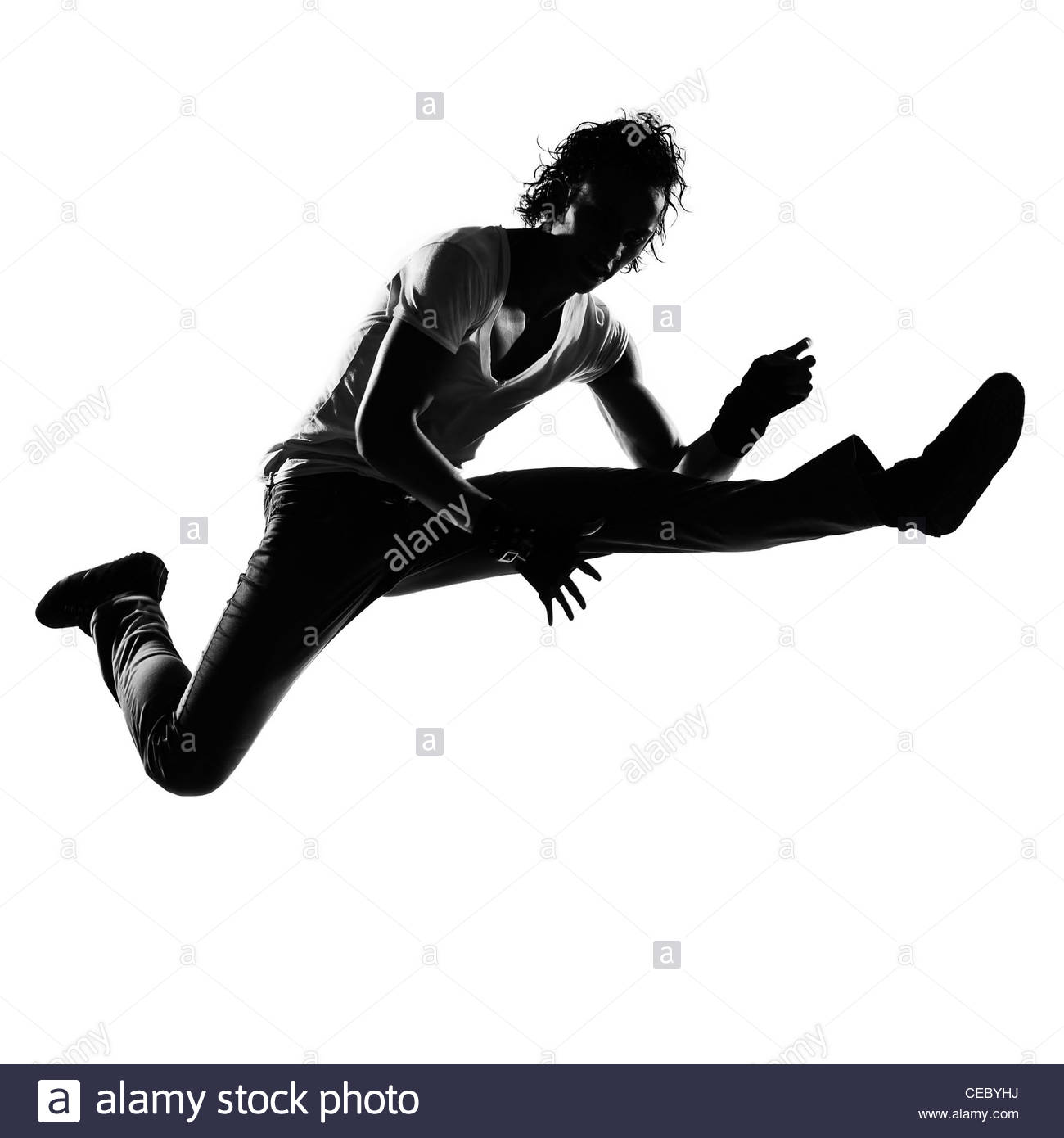 1300x1390 Full Length Silhouette Of A Young Man Dancer Dancing Funky Hip Hop