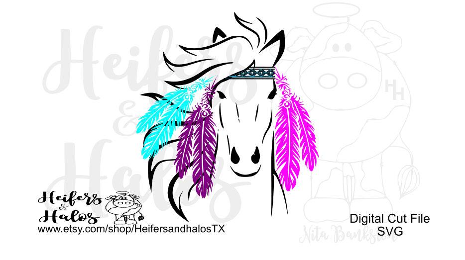 934x523 Hippie Horse Svg, Png, Pdf, Eps, Cut File For Cricut, Silhouette