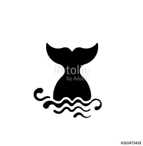 490x500 Mermaid Vector Black Silhouette Illustration Sea Tail Design