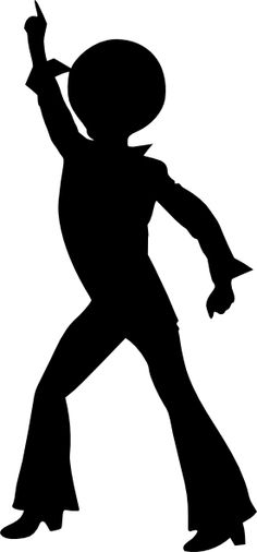 236x506 70's Disco Dancers Silhouettes Cutouts Birthday Party Dance