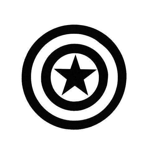 500x500 Captain American Window Sticker By Craftyitemshop On Etsy Esty