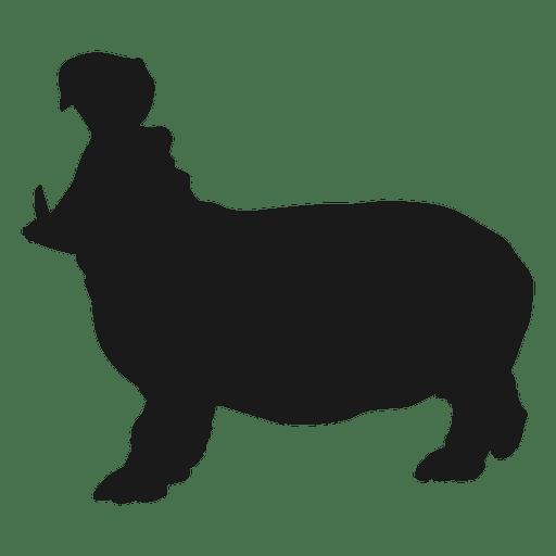 512x512 Hippo Silhouette