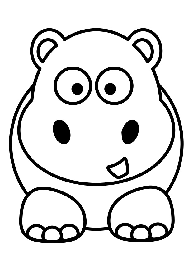 620x875 Hippo Silhouette Clipart, Vector Clip Art Online, Royalty Free