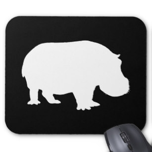 307x307 Hippo Silhouette Office Products Amp Supplies Zazzle