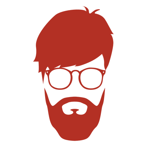512x512 Hipster Man Silhouette