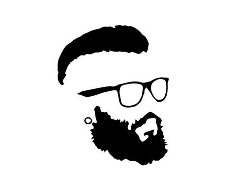474x395 Hipster Beard Glasses Silhouette.png Barber 1