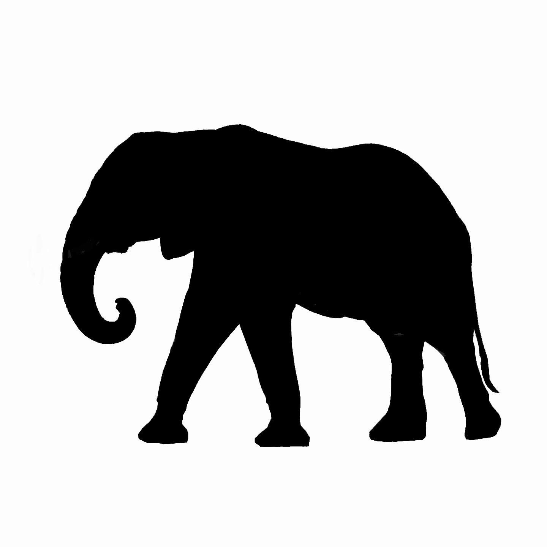 1440x1440 Elephant Clipart Silhouette