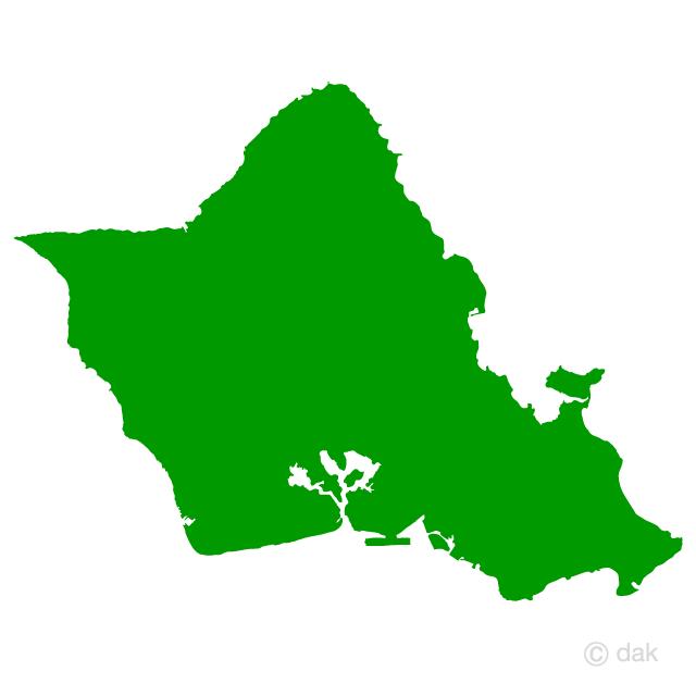 640x640 Free Hawaii Oahu Map Silhouette Cartoon Amp Clipart