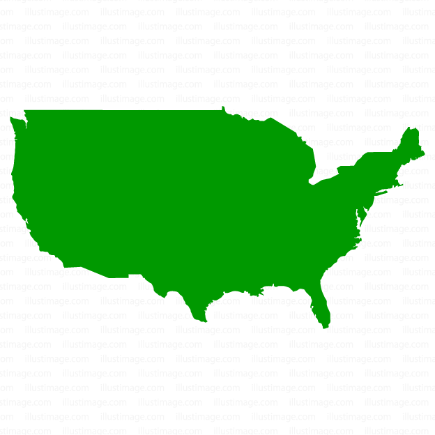 624x624 Free Map Silhouette Of The United States Cartoon