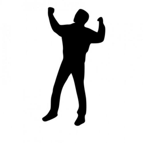 500x500 Man Flexing Silhouette