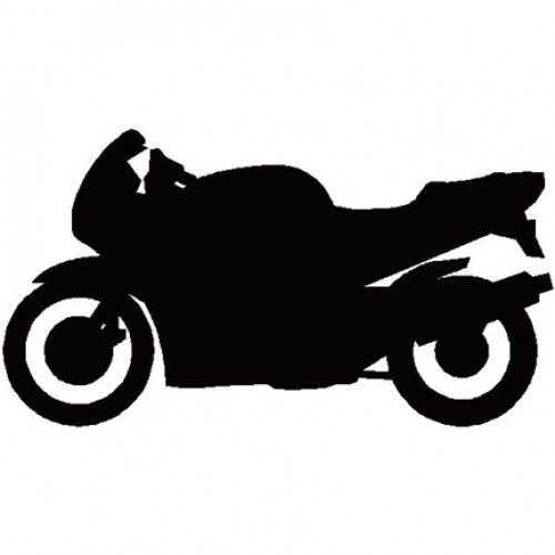 500x500 Motorcycle Silhouette