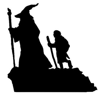 423x400 The Hobbit Decal Gandalf And Bilbo By Pennavircrafts On Etsy Oe
